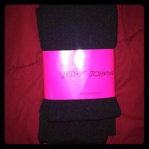 3/$15 betsey Johnson fleece lined tights